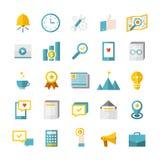 Moderna plana affärssymboler Arkivbild