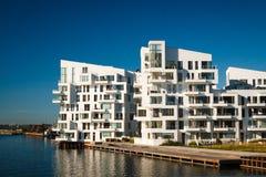 Moderna plana byggnader Fotografering för Bildbyråer