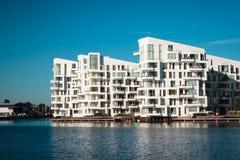 Moderna plana byggnader Arkivbild