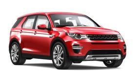 Moderna röda SUV Arkivfoto