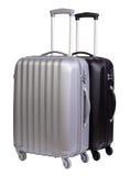 Moderna resväskor som isoleras på vit Royaltyfria Foton