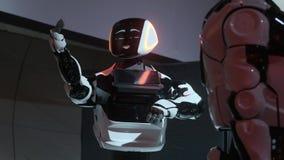 Moderna Robotic teknologier Robotic dansparti Smart robotic teknologi Dansa kapacitet Ny underh?llning stock video