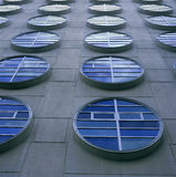 Moderna runda fönster Arkivfoto