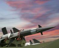 Moderna ryska anti-flygplan missiler 5V27DE Fotografering för Bildbyråer