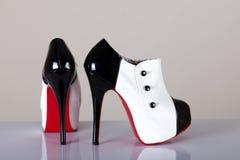moderna sexiga skor för kvinnlig Arkivbild