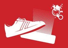 moderna skor för 1 idrottshall vektor illustrationer