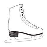 moderna skridskor för is Fotografering för Bildbyråer