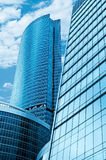 moderna skyskrapor för affärscentrum Royaltyfria Foton