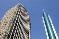 moderna skyskrapor för porslin Fotografering för Bildbyråer