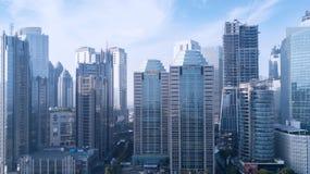 Moderna skyskrapor i Jakarta Arkivbild
