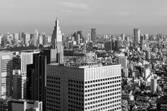 Moderna skyskrapor och kontorsbyggnader i Shinjuku, Tokyo Arkivbilder