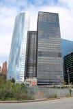 Moderna skyskrapor på det finansiella området av Manhattan, New York City Arkivfoton