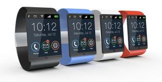 Moderna smartwatches Arkivfoto