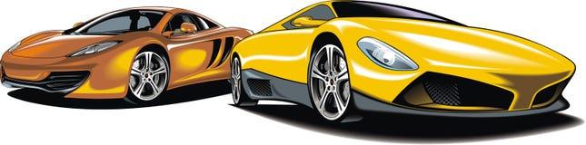 Moderna sportbilar (min original- design) stock illustrationer
