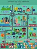 Moderna stadsöversiktsbeståndsdelar för utveckling av din egen infographics, M Fotografering för Bildbyråer