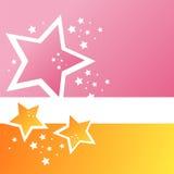 moderna stjärnor för bakgrund royaltyfri illustrationer