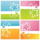 moderna stjärnor för bakgrunder vektor illustrationer