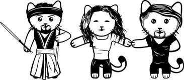 Moderna svartvita kattungar Del 6 royaltyfri illustrationer