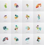 Moderna temlates för geometrisk design, universal Arkivfoto