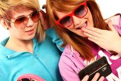 moderna tonåringar royaltyfri foto