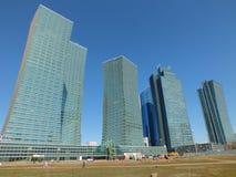 Moderna torn i Astana Royaltyfri Foto