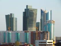 Moderna torn i Astana/Kasakhstan Royaltyfri Bild