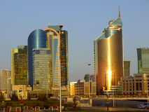 Moderna torn i Astana/Kasakhstan Arkivbild