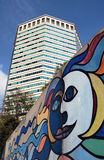 Moderna torn i Genua Italien Royaltyfri Fotografi