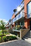 moderna townhouses Arkivbilder