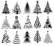 moderna trees för jul Arkivbild