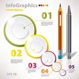 Moderna vektorbeståndsdelar för infographics med cirklar Arkivfoton