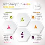 Moderna vektorbeståndsdelar för infographics med romb Royaltyfri Foto