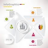 Moderna vektorbeståndsdelar för infographicsen för affärsdesign Arkivfoton
