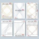 Moderna vektormallar för broschyr, reklamblad, räkningstidskrift eller rapport i formatet A4 Affär vetenskap, medicin och Arkivfoto