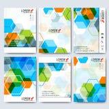 Moderna vektormallar för broschyr, reklamblad, räkningstidskrift eller rapport i formatet A4 Affär vetenskap, medicin och Royaltyfri Fotografi