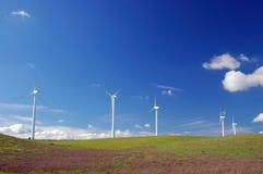 moderna windmills Royaltyfria Foton