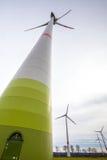 Moderna windturbiner Royaltyfria Foton