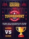 Moderna yrkesmässiga sportar planlägger affischen med baseballturnering i rött tema stock illustrationer