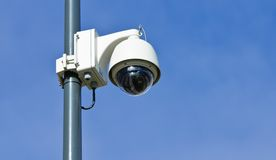 Moderne Überwachungskamera stockbild