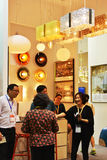 ¼ moderne ŒIn de shopï d'éclairage de LED allumant l'exposition commerciale, Guangdong, Chine Photo libre de droits