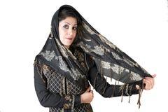 Moderne aantrekkelijke Arabische vrouw Stock Foto's