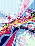 Moderne abstracte achtergrond royalty-vrije illustratie