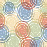 Moderne abstracte achtergrond met pastelkleur gekleurde overlappende draai Stock Foto