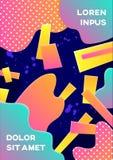 Moderne abstracte affiche Royalty-vrije Stock Foto
