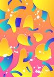 Moderne abstracte affichedekking Royalty-vrije Stock Afbeeldingen