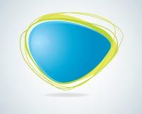 Moderne abstracte blauwe toespraakbel Stock Foto