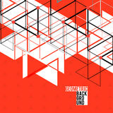 Moderne Abstracte Geometrische Rode Achtergrond voor Stock Foto's