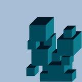 Moderne Abstracte Kubus Backgound Royalty-vrije Stock Afbeeldingen