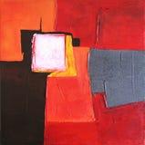 Moderne Abstracte Kunst die - schildert - Achtergrond Royalty-vrije Stock Fotografie