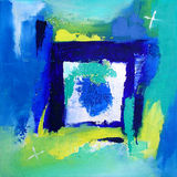 Moderne Abstracte Kunst die - schildert - Achtergrond Stock Afbeelding
